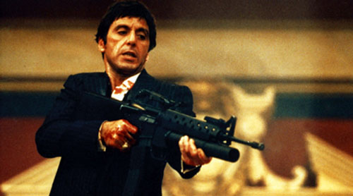Al Pacino in Scarface by Brian De Palma