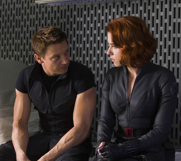 Scarlett Johansson The Avengers Jeremy Renner