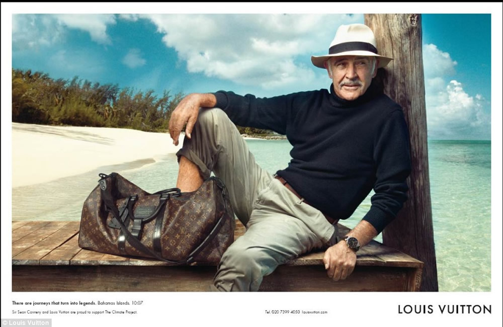 Sean Connery, Louis Vuitton ad