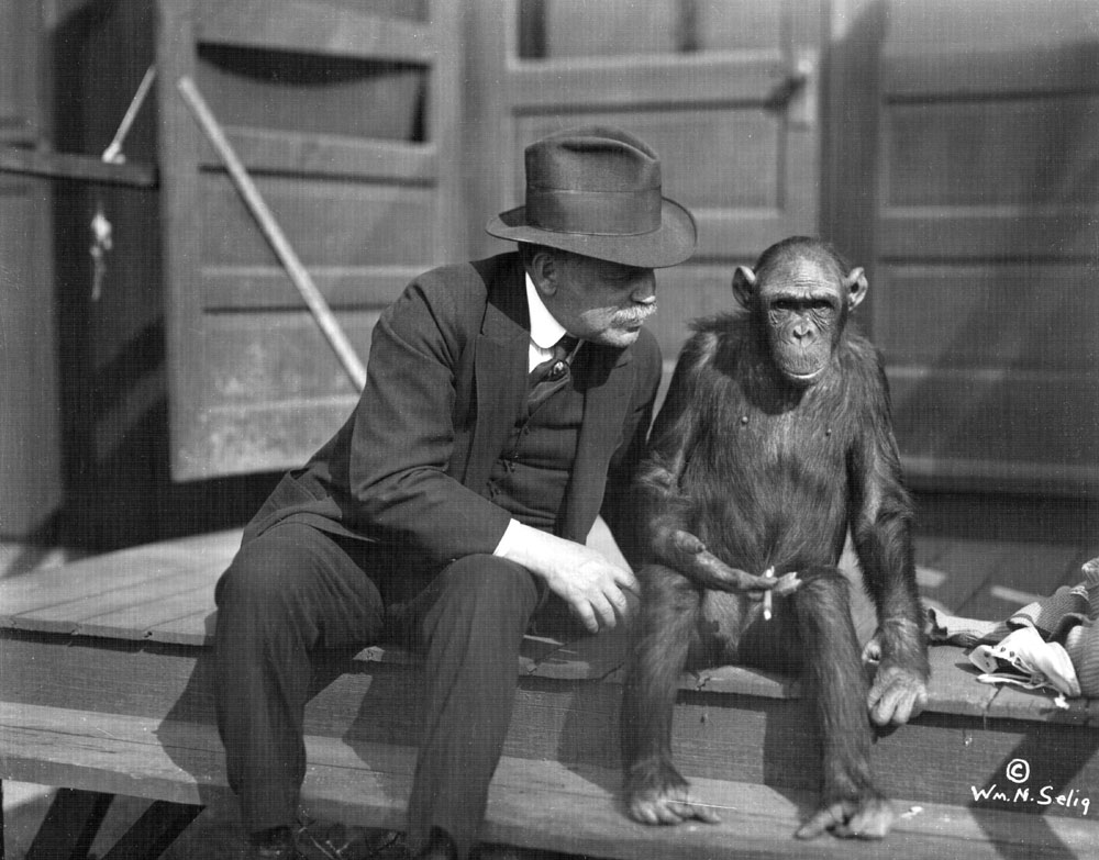 William N. Selig and chimp