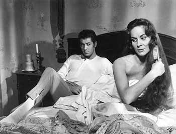 Farley Granger and Alida Valli in Senso (1954) directed by Luchino Visconti and co-starring Massimo Girotti