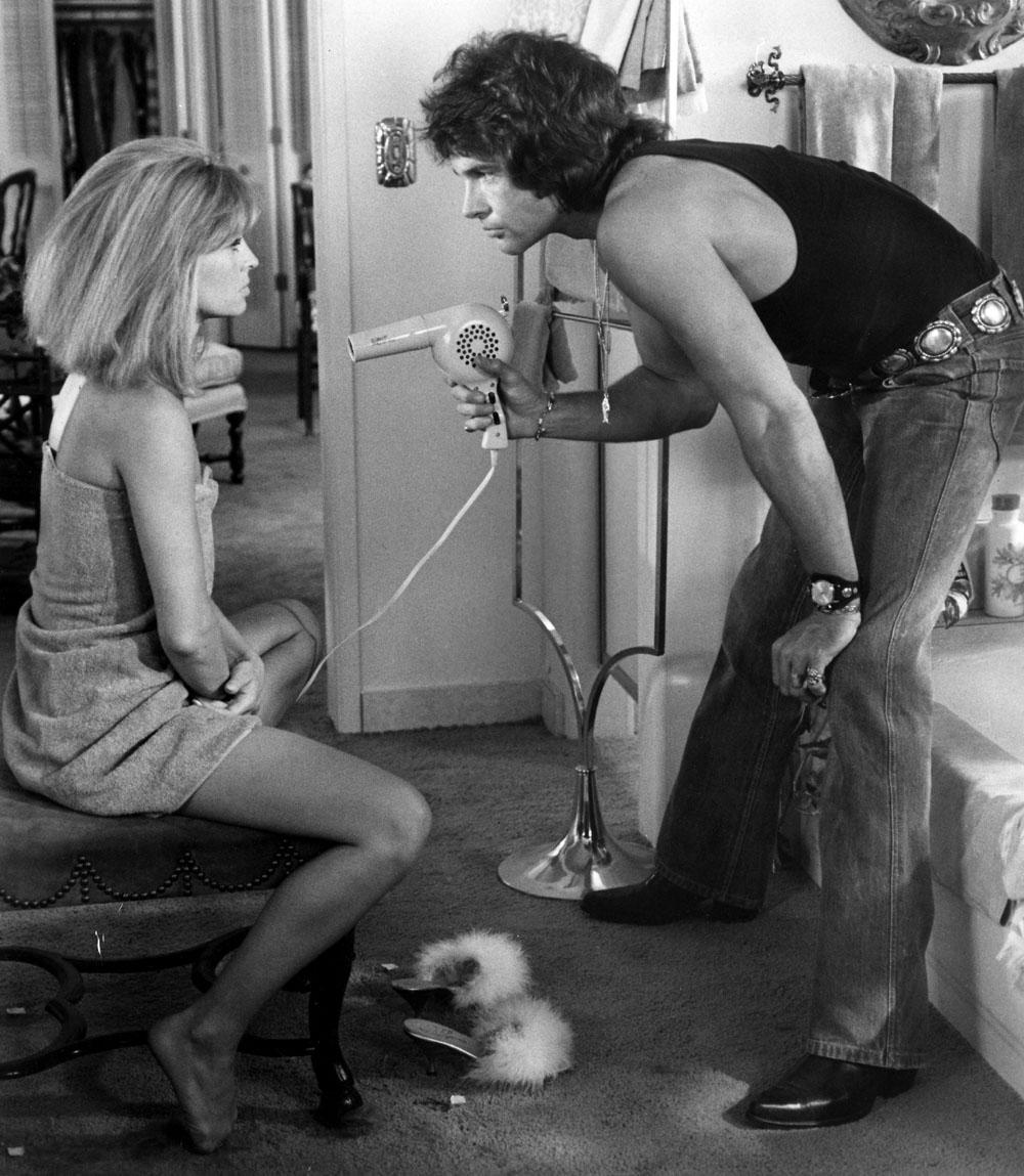 Julie Christie, Warren Beatty in Shampoo
