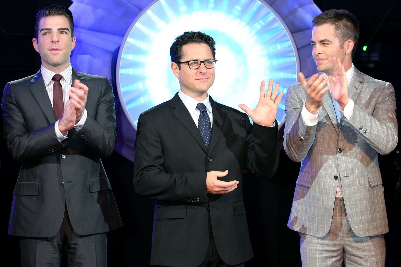 Zachary Quinto, J.J. Abrams, Chris Pine