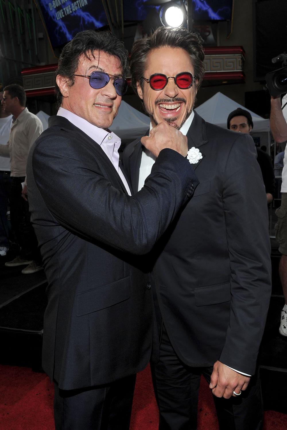 Sylvester Stallone, Robert Downey Jr photo