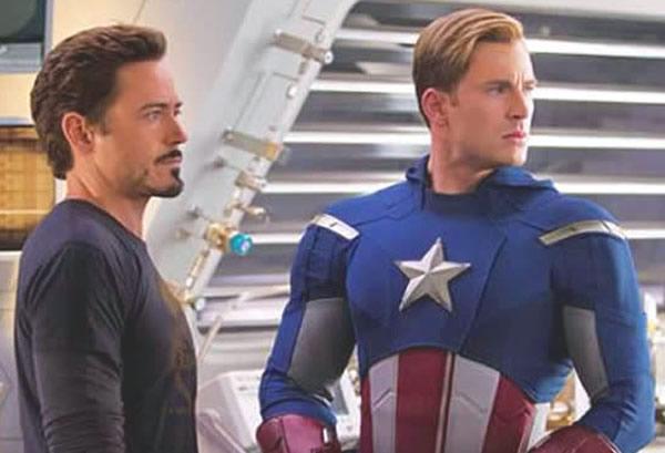 The Avengers Robert Downey Jr Iron Man Chris Evans Captain America