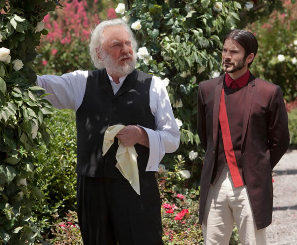 The Hunger Games Donald Sutherland President Snow Wes Bentley Seneca Crane