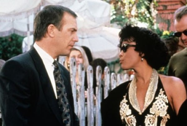Whitney Houston movies The Bodyguard Kevin Costner