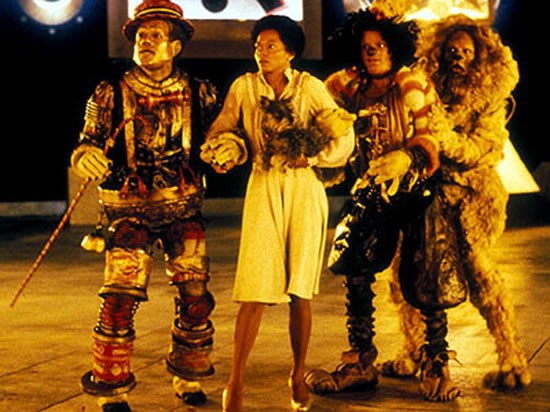 Nipsey Russell, Diana Ross, Michael Jackson, Ted Ross in The Wiz