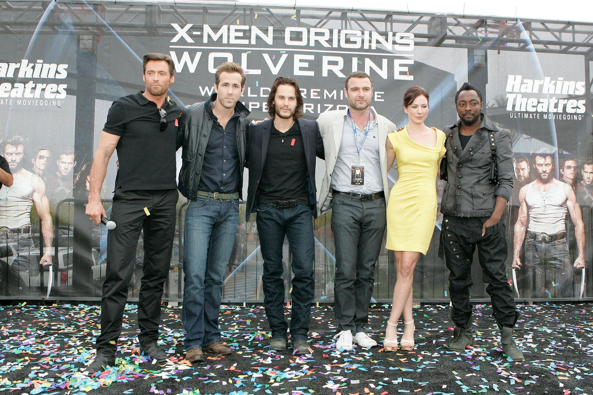Hugh Jackman, Ryan Reynolds, Taylor Kitsch, Liev Schreiber, Lynn Collins, William