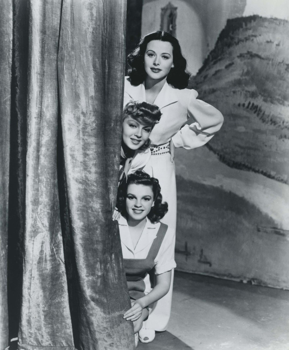 Hedy Lamarr, Judy Garland, Lana Turner in Ziegfeld Girl